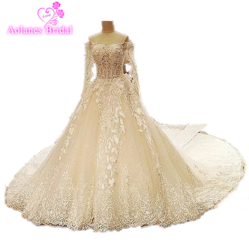 2017 Fotos Reales de Alta Calidad de Encaje de Lujo Apliques - Vestidos de novia