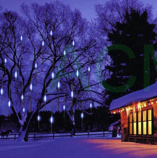 30cm SMD LED Meteor Shower Rain Tube Light Luces De Navidad Outdoor Waterproof Tree Decoration Wedding lamp Garland 1set 8 Tubes