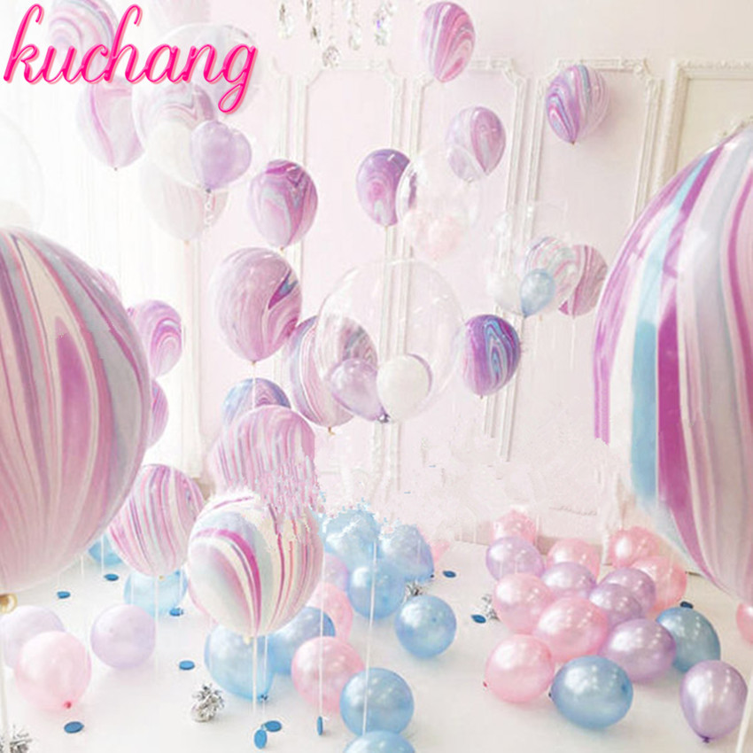 10pcs Wedding Decoration balloons Agate Marble Balloon Colorful Latex