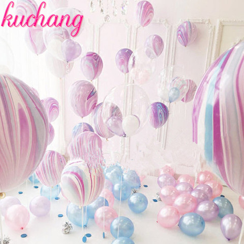 10pcs Wedding Decoration balloons Agate Marble Balloon Colorful Latex for Baby Shower Birthday Party Decorations kids toys Pakistan
