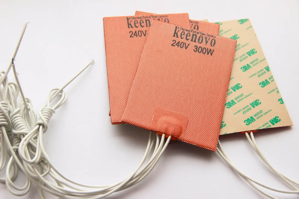 150X100mm 300W 240V Free Shipping Keenovo Universal Flexible Silicone Heater Mat Pad Element Engine Oil Pan
