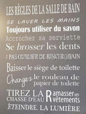 Buy quotes for bathroom of french version removable wall stickers home decor - Sal de bain ...