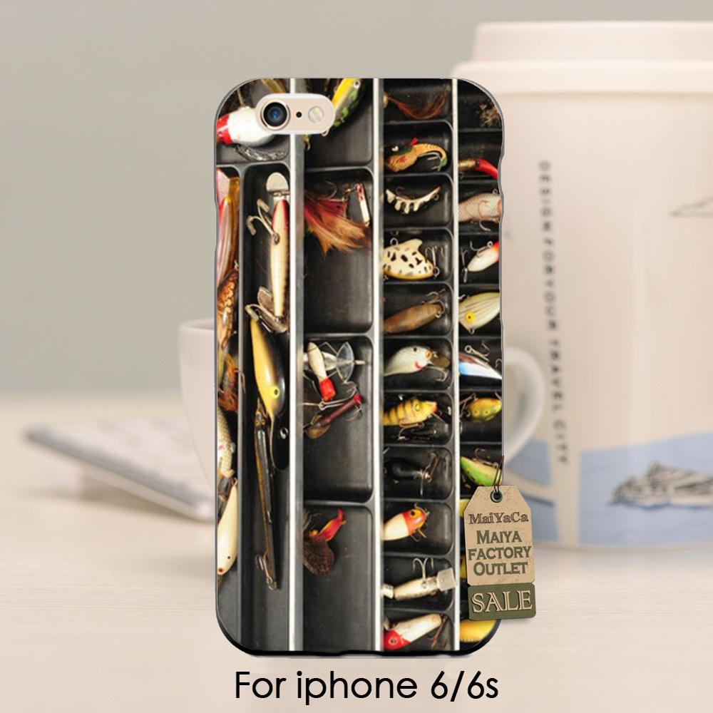 Fishing Tackle Box Lure rod Tpu for case iphone 4 4s 5 5s 5c se 6 6 s plus 7 plus