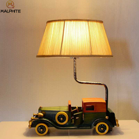 Современный деревянный ретро автомобиль Настольная лампа для гостиной Детская Спальня прикроватный светильник Настольная лампа домашний
