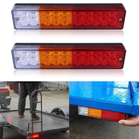 2PCS 20LED Car Trailer LED Tail Rear Brake Light High Quality Auto Truck Reverse Turn Amber