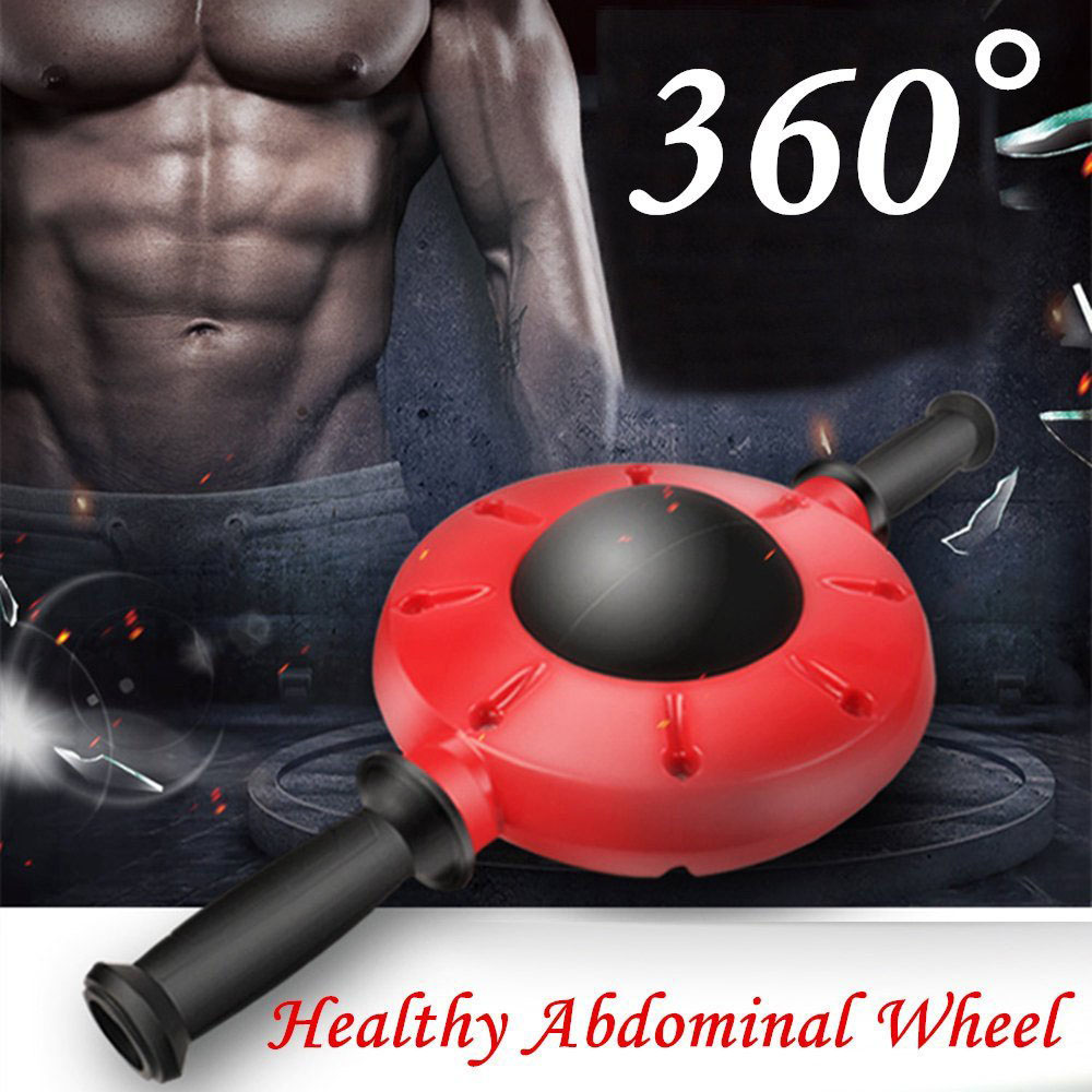 360 Degrees All-Dimensional Abdominal Wheel No Noise Ab Roller Muscle Trainer Fitness Equipment Non-Slip Rubber Handle Workout