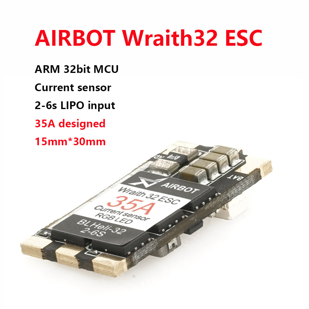 AIRBOT-1pcs Wraith32-32bit Brushless Blheli_s 35a Blheli_s32 Dshot1200 Built Current Sensor Brushed esc 30a For Fpv Quadcopter