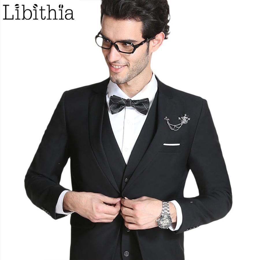 Xhaketë + pantallona të gjera + jelekë me kostume tre copë për - Veshje për meshkuj - Foto 2
