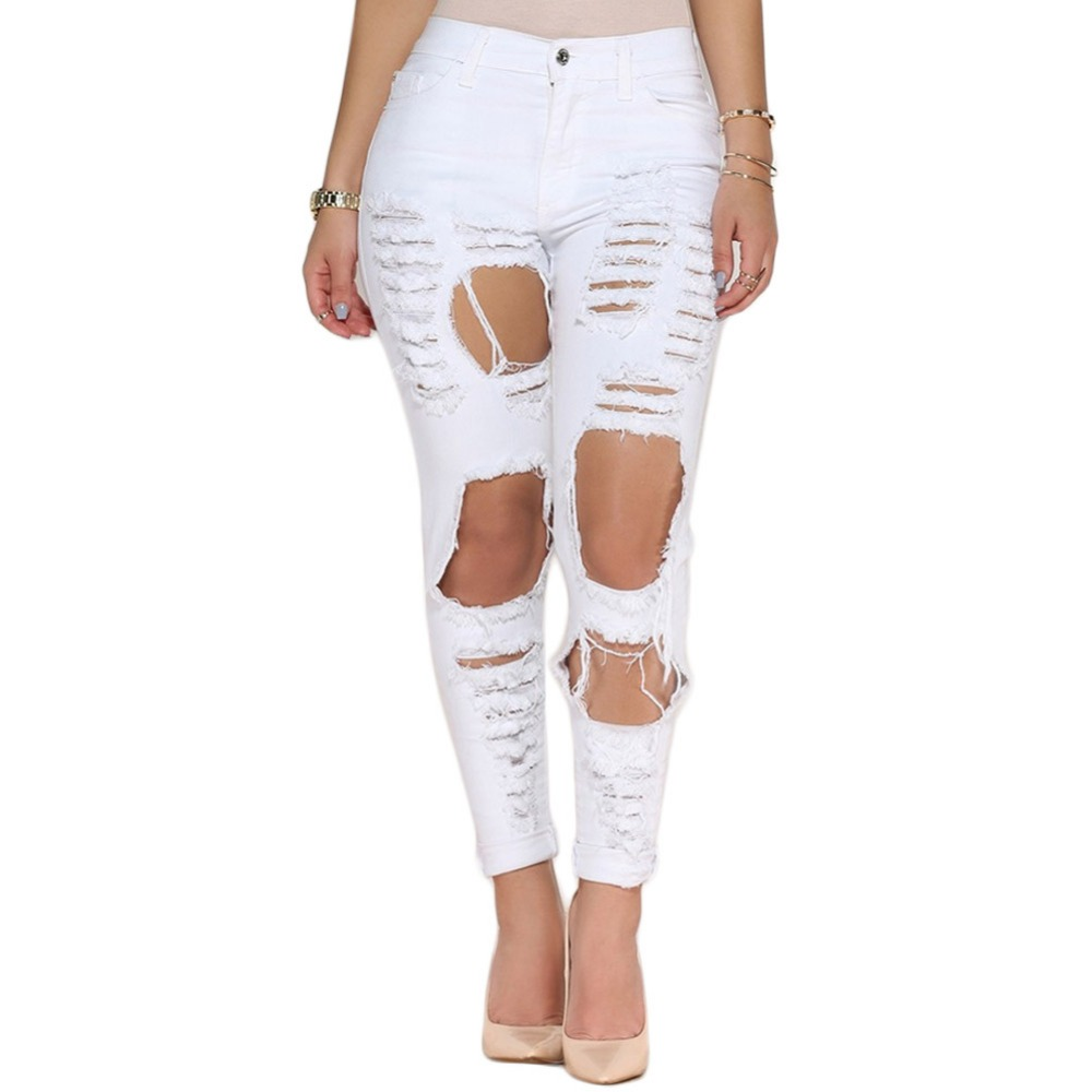 Online Get Cheap White Skinny Jeans Plus Size for Women ...