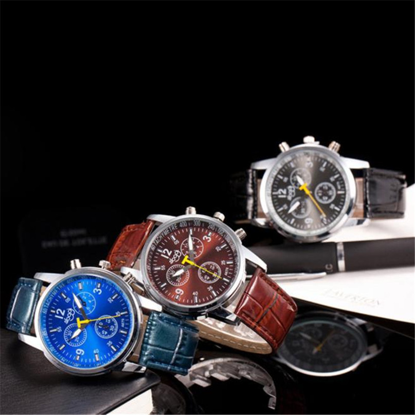 2018 New Brand Gold Mens Watches Top Brand Luxury  Wristwatch Mens Gift Quartz Watch Discount #4A22