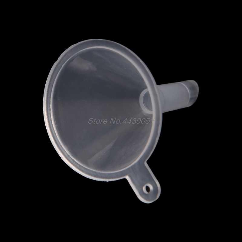 Mini plastik parfüm difüzör şişe sıvı yağ hunileri laboratuvar mutfak malzemeleri