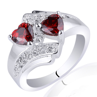 Mix Order Lots 5 Pieces Women Silver 925 Sterling Ring Simulated Red Garnet Low Price Mix styles & Mix Sizes MX1