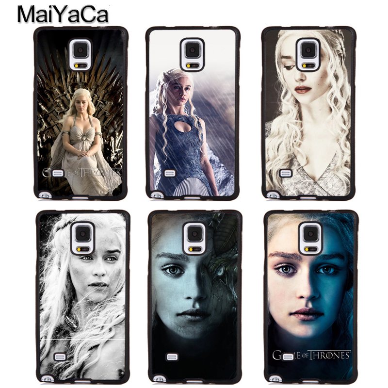 MaiYaCa Daenerys Targaryen Games of Throne Phone Cases For Samsung Galaxy S5 S6 S7 edge Plus S8 S9 plus Note 4 5 8 Cover Shell