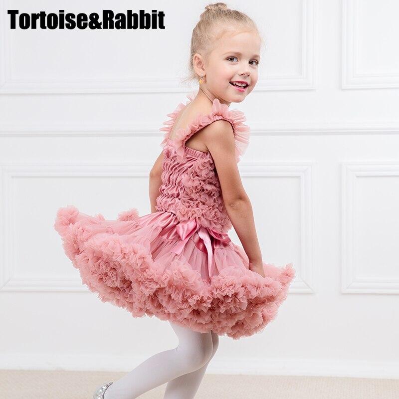 Новый Милый ребенок Обувь для девочек мини-юбка Тюль Твердые Цвет вечерние принцессы для танцев шифон юбка-пачка девушка Лолита юбка flully ...