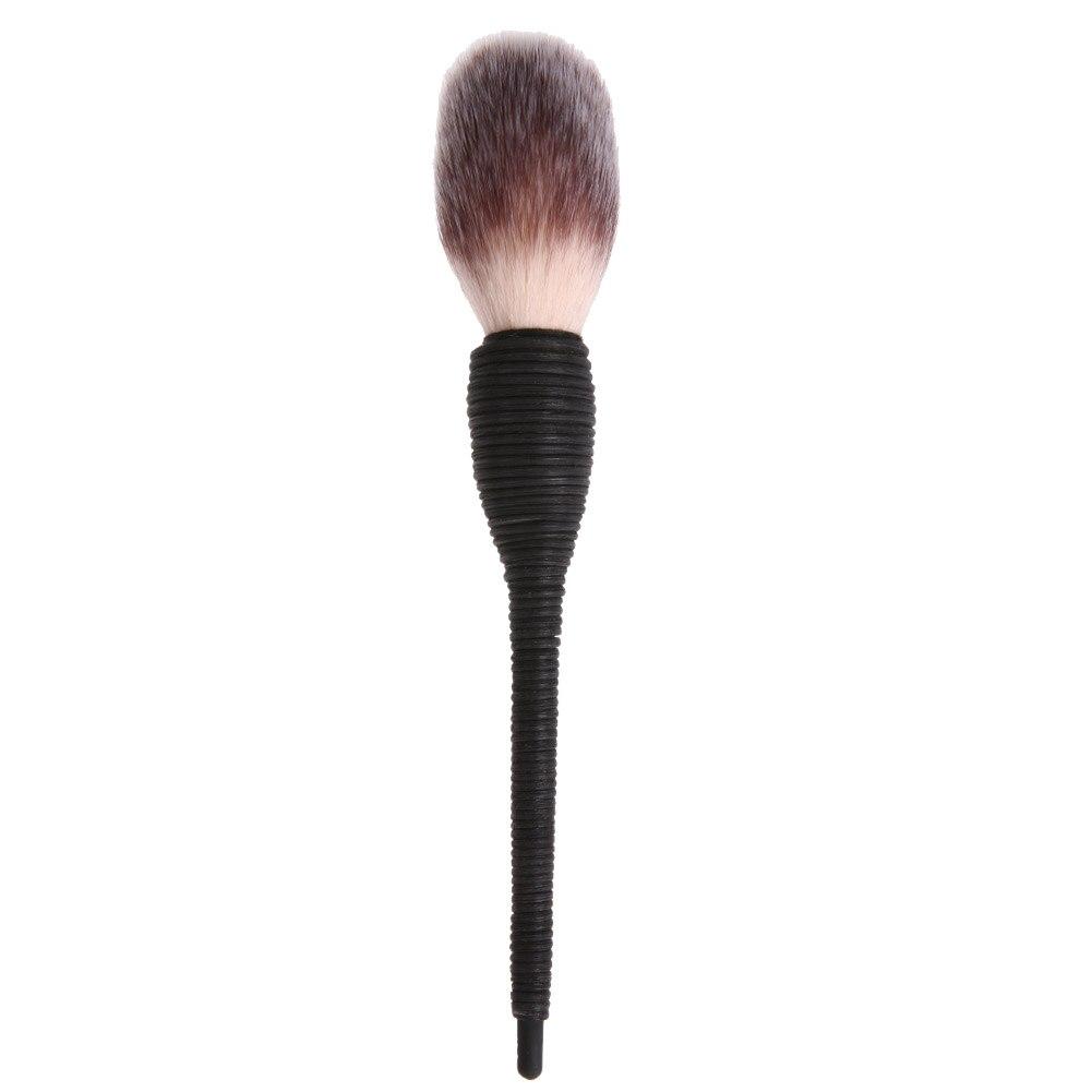 1 PC Pro Women Kabuki Flat Contour Blusher Powder Foundation Eye Shadow Face Makeup Brush Nature Goat Hair Cosmetic Tools pro women lady cosmetic makeup face powder blusher soft toothbrush curve brush foundation tools 131 0122