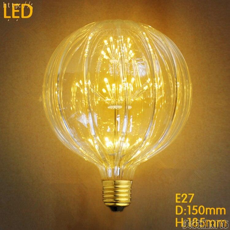Citrouille 2 W LED Bombilla Edison Ampoule Lumière Cru Ampoule Lampada Edison Lampe Rétro E27 Ampoules Décoratifs