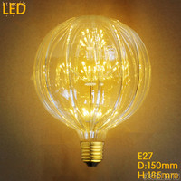 Pumpkin 2W LED Bombilla Edison Bulb Light Vintage Light Bulb Lampada Edison Lamp Retro E27 Ampoules Decoratives