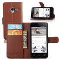 Mobile Phone Bag Cover Case with Card holder Leather Wallet Style Stand Case For Alcatel One Touch Pixi 3 3.5'' OT4009A