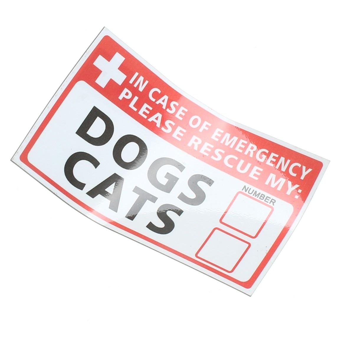 Новый safurance чрезвычайных ПЭТ-Rescue Dog кошка винил Стикеры этикетки знаки Детская безопасность Предупреждение 74*125 мм безопасности Детская без...