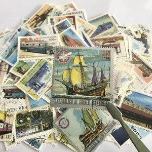 Image 1 - 250 adet/grup Tekrar Yok Taşıma Posta Pulları Ile Posta Damgası, Araba Tren Tekneler ve Gemiler Taşıma, Koleksiyon Hediyeler