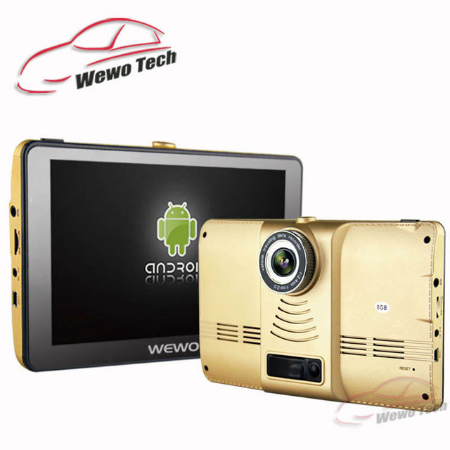 New 7 inch GPS Navigation Android 4.4.2 DVR Camera 1080P Bluetooth Quad-core Navigation Navitel/Europe Map Sat Nav