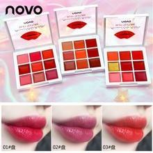 Novo 9 Colors sexy jelly Lip Gloss Shiny Set Waterproof Professional Lip Gloss l