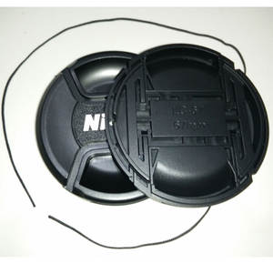 49 52 55 58 62 67 72 77 82mm Center Pinch Snap-on Front Lens Cap hood for nikon