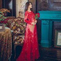 8369 Film Hook Embroidery Perspective Dress The Aristocratic Wind Restoring Ancient Ways Is The Dress