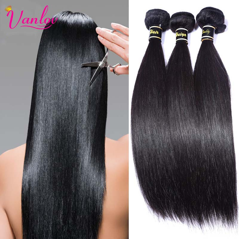 7A Brazilian Virgin Hair Straight 2 Bundles Wet And Wavy Virgin Brazilian Hair Human Hair Weave Brazilian Straight Virgin Hair