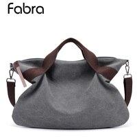 Fabra Luxury Handbags Women Bags Designer Hobos Canvas Women Handbags With Short Handle Casual Totes Bag Large Capacity Bag 2018
