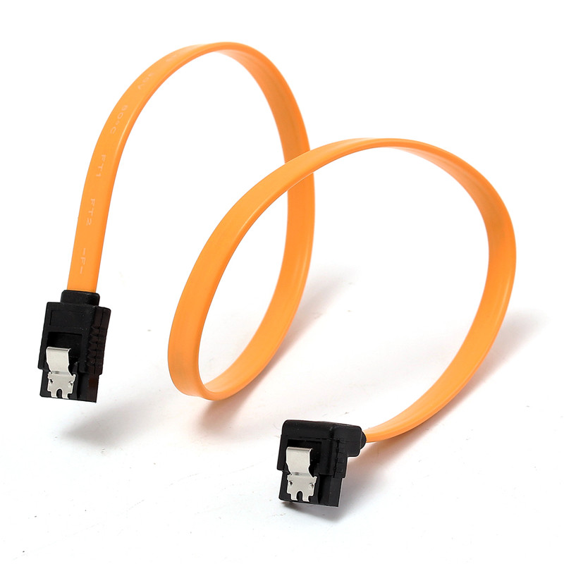2PCS Serial ATA SATA 3 RAID Data HDD Hard Drive Disk Signal Cables Super Speed Straight SATA Data Cable Yellow High Quality 2pcs high quality hdd ssd sata3 0 iii 6gb 50cm straight cables right angle cable serial ata hard disk data line soft beautiful