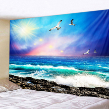 Beautiful Wave Landscape Printed Large Wall Tapestry Cheap Hippie Wall Hanging Bohemian Wall Tapestries Mandala Wall Art Decor
