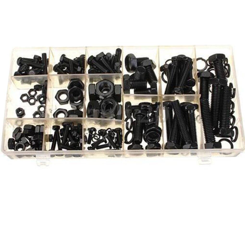 240 pcs À Tête Hexagonale Écrou et Boulon Kit Accueil Attaches Portable Rondelle Assortiment Set M4 M5 M6 M8 M10