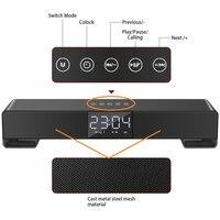 Alarm Clock Handsfree FM TF AUX USB Boombox Digital Table Clock LED Despertador Temperature Humidity Electronic Desktop LED