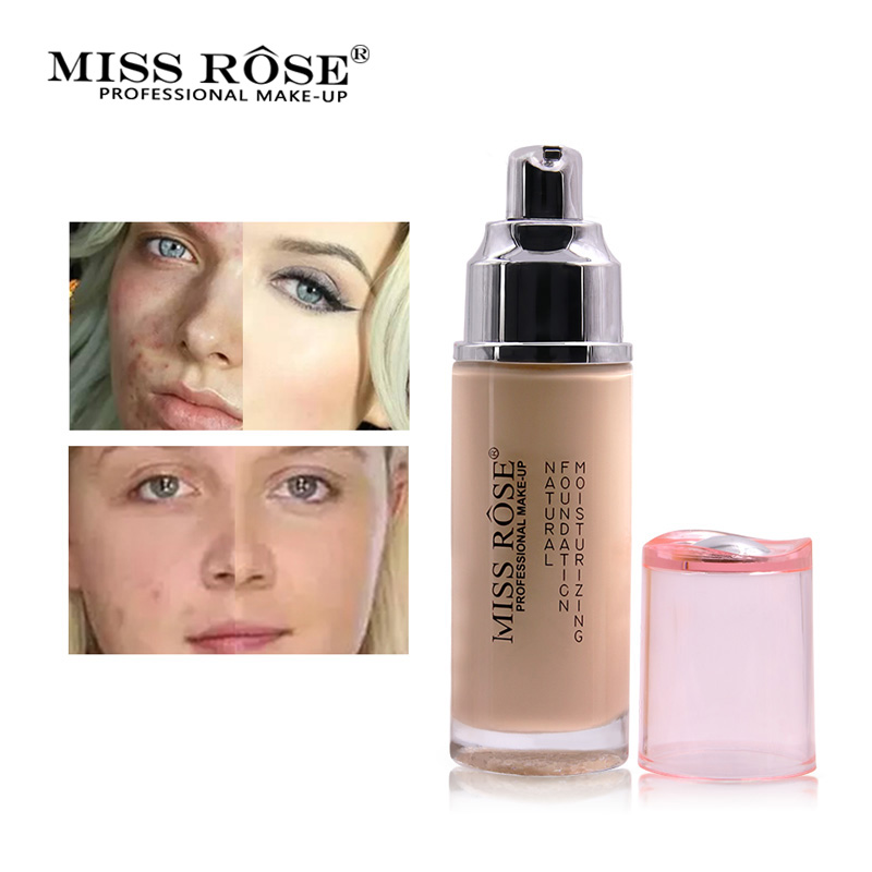 2018 Miss Rose maquillage visage Base visage fond de teint liquide acné crème correcteur hydratant apprêt beauté cosmétiques