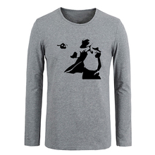 El rey del pop Michael graffiti impresión Personalizada camiseta de Algodón de Manga larga T-shirt Regalos para Niño Ocasional Ropa de Anime cosplay Tops