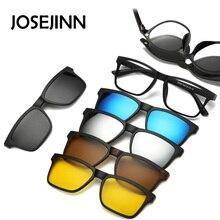 5 + 1 دعوى مقابض عصرية على النظارات الشمسية النساء إطارات مقاطع النظارات الشمسية المغناطيس النظارات الرجال كليب نظارات 6 في 1