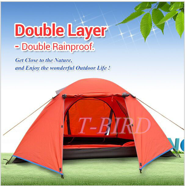 DHL free shipping 2 person Double layer winter tent Windproof Rainproof snowproof Outdoor Camping hunting fishing tent