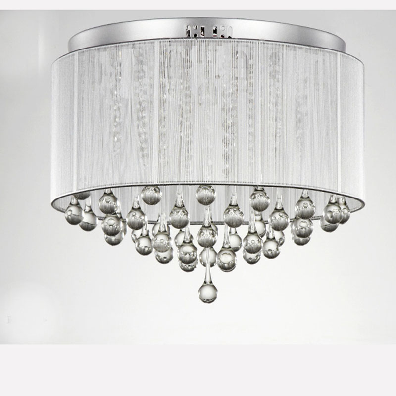 Free Shipping Best Ing Modern Simple Fabric Crystal Ceiling Chandelier Lights With Name Brand 32 45cm Diamater In Chandeliers From Lighting On