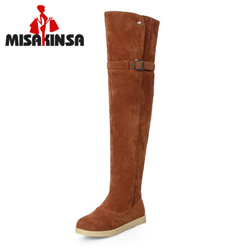 Size 33-42 Russia Keep Warm Outdoor Snow Boots New Women Boots Womens Fur Boots Winter Over Knee Long Riding Boots Shoes