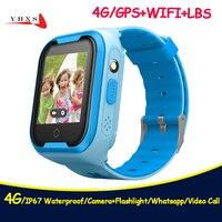 2018 New 4G IP67 Waterproof Smart Remote Camera GPS WI FI Kids Children Wristwatch SOS Video Call Monitor Tracker Location Watch