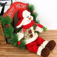 2018 NEW Vine Ring Door Hanging Flower Circle Diameter 30cm Gift Decor Party Ornament Snowman Wreath