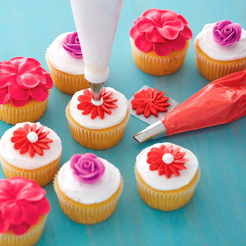 Wilton Decorating Piping Tip Set Cake Decorating Supplies Set with 22 Piece Icing Tips 1 Standard Coupler 1 Flower Nail in Decorating Tip Sets from Home Garden
