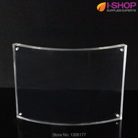 Double Sided Acrylic Magnetic Frame Letter Size Irregular Clear Picture Frame Landscape 216x279mm YCX 10