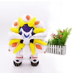 Image 5 - 2 arten Delicate Alola Solgaleo Lunala SONNE & MOND Tier Gefüllte Peluche Plüsch Spielzeug Japanischen Anime Action Figure Puppen