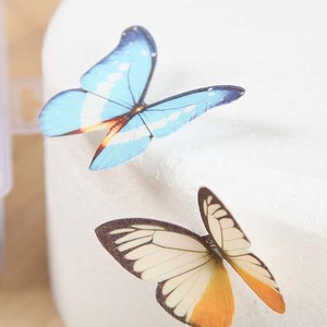 Image 5 - 20Pcs/set Mixed Butterfly Edible Glutinous Wafer Rice Paper Cake Cupcake Toppers For Wedding Cake Decoration Birthday