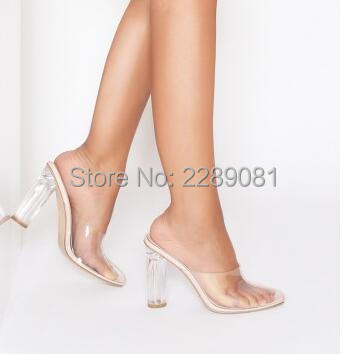 157f45cde9e Women Clear High Heels 11 cm Perspex Heeled White Nude Side Transparent  Party Slippers Kim Kardashion Collection Stylish