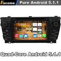 Pure Android 5.1 Auto DVD voor Toyota Corolla 2014 Met Quad Core 2G ROM Bluetooth Gps-navigatie 1024*600 Touchscreen