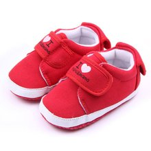 0-18M Toddler Newborn Baby Shoes Infant Kids Boys Girls Soft Sole Canvas Sneaker 6 styles(China)
