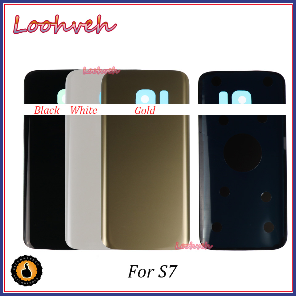 For SAMSUNG Galaxy S7 S7edge Back Glass Battery Cover Housing case Replacement For SAMSUNG GALAXY G930F G935F image